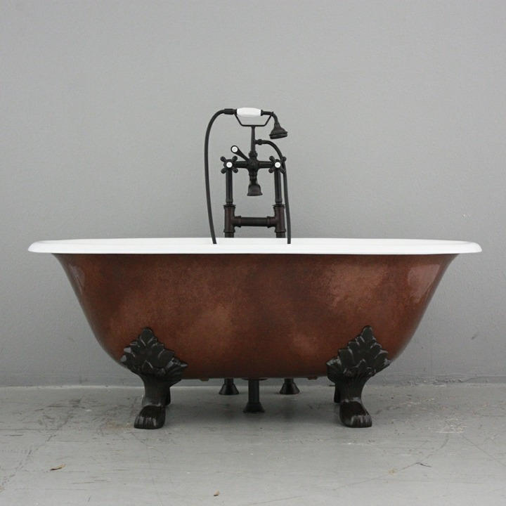 bañeras vintage detalles tendencias salones negro