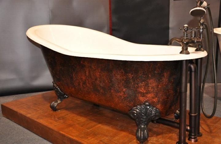 bañeras vintage detalles tendencias tuberias madera