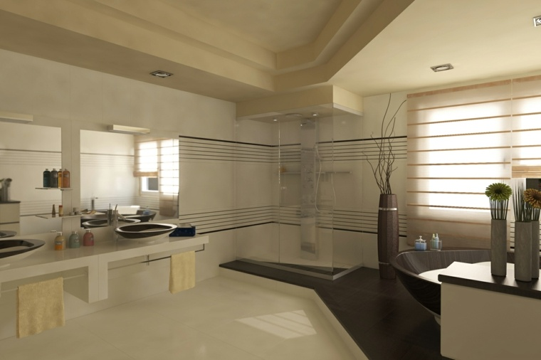 baño lujoso estilo moderno
