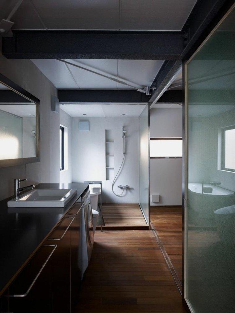 baño pequeño moderno minimalista