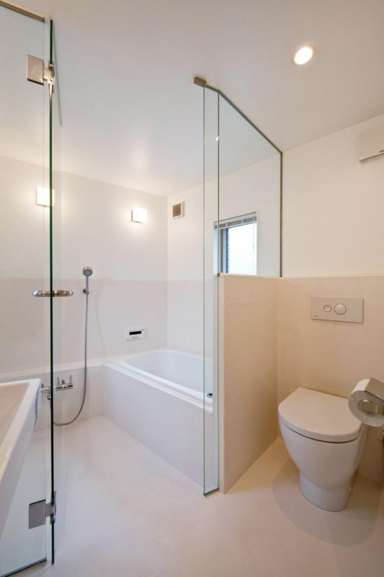 cuarto baño pequeño color beige