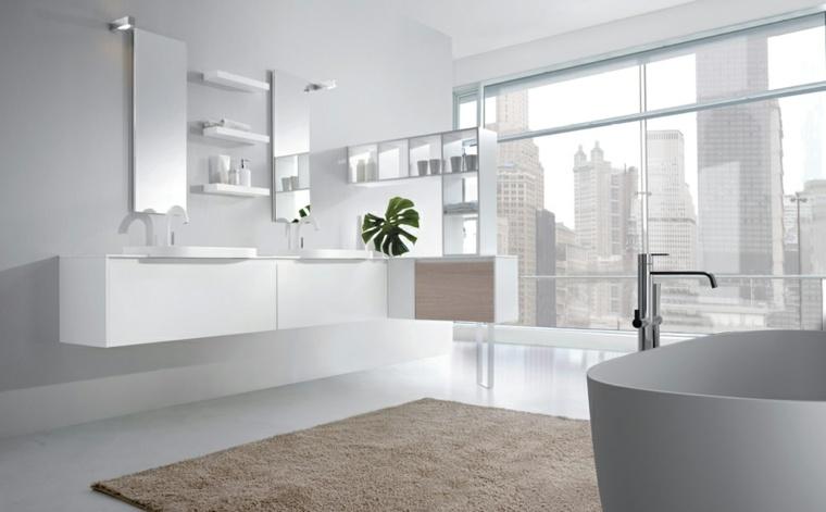 Baños Grandes Lujosos:Baños minimalistas – la grandeza de lo más simple -