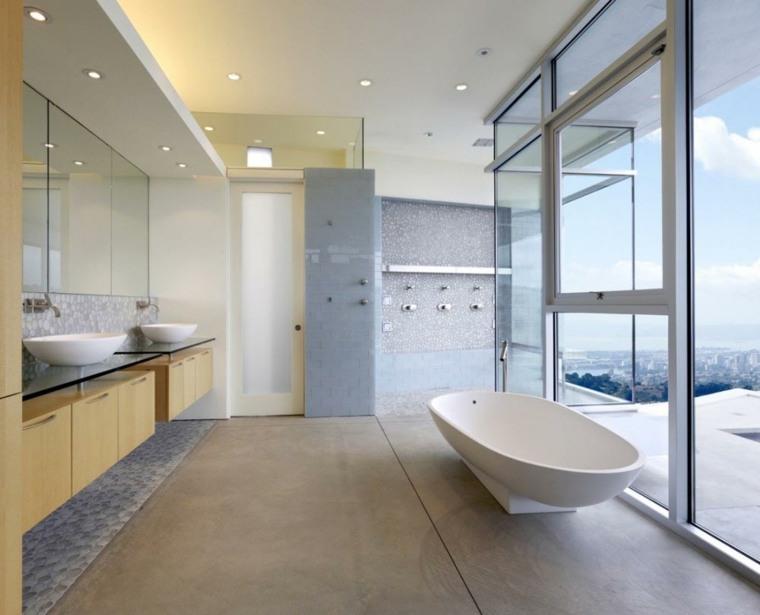 baños minimalistas estilo deco moderno