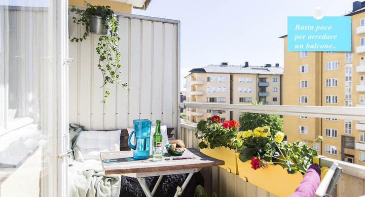balcón pequeño decoración moderna