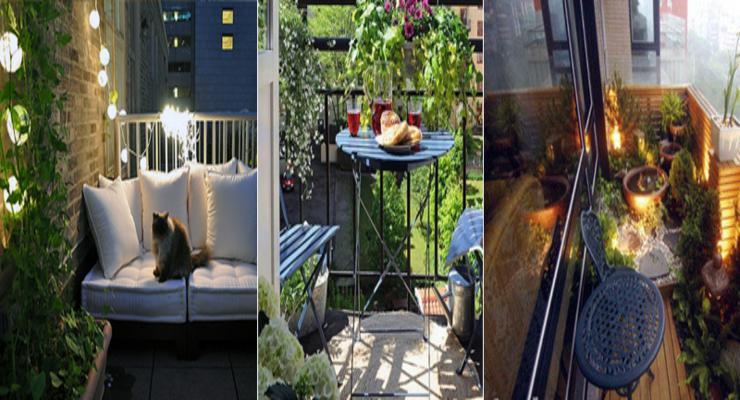 Balcones y terrazas peque as cincuenta ideas para decorar - Decoracion de balcones pequenos ...