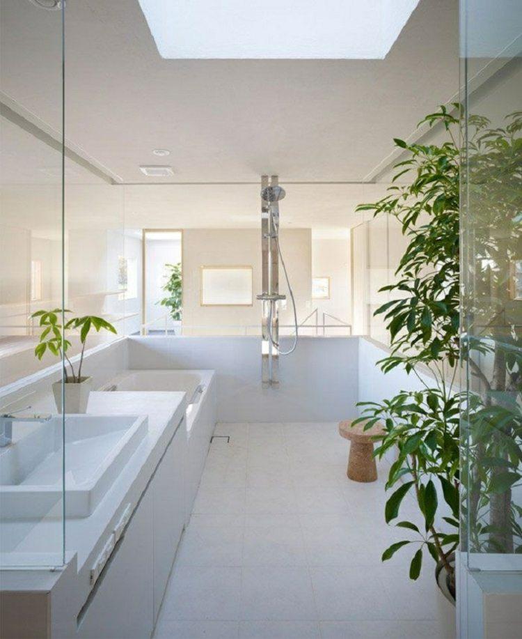 bano estilo japones plantas ducha ideas