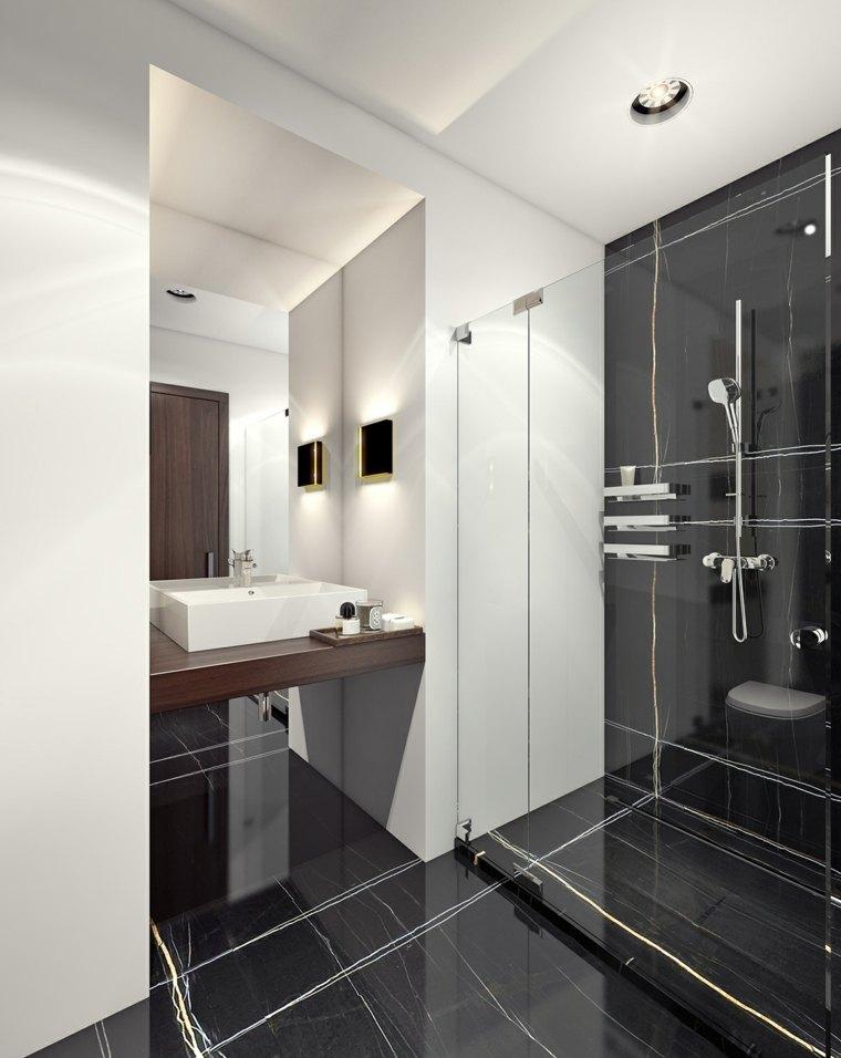 Ba os elegantes blancos - Decoracion cuartos de bano modernos ...
