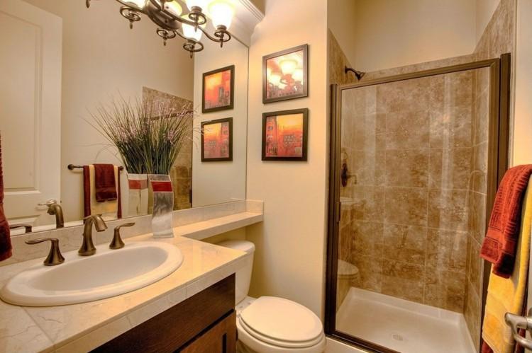 bano tradicional cuadros plantas ducha puerta ideas