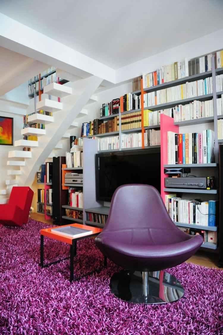 Muebles tv integrados con biblioteca 75 ideas modernas for Libros de diseno de muebles