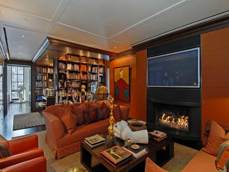 bibliotecas salones tradicionales original diseño