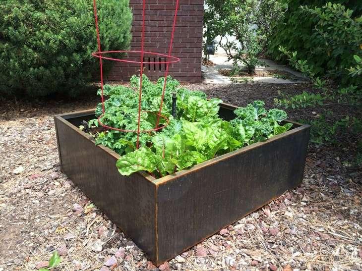 Acero corten ideas para exteriores en 75 dise os creativos - Jardineras de cemento ...