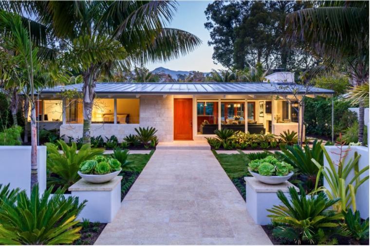 bonita casa moderna porche jardin