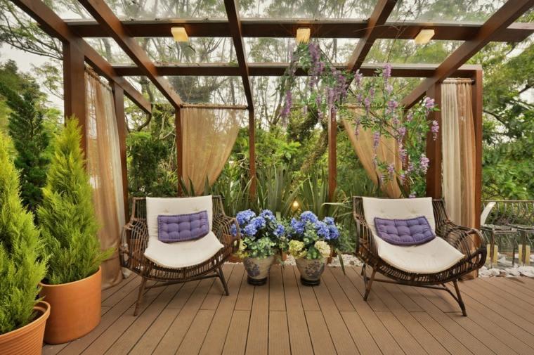 Decoracion Terrazas Cubiertas ~ Porches jardin y terrazas cubiertas  50 dise?os excepcionales