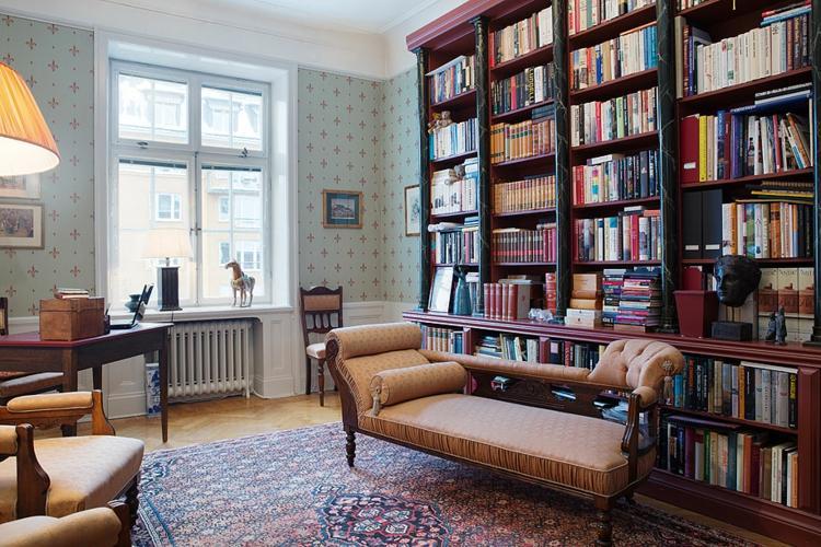 bonita sala lecturas estilo vintage