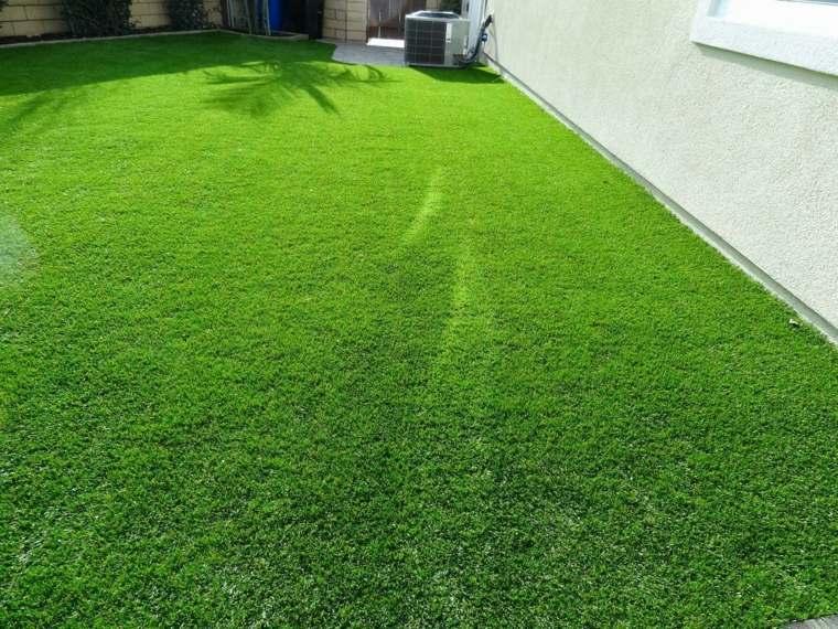 bonito cesped color verde jardin