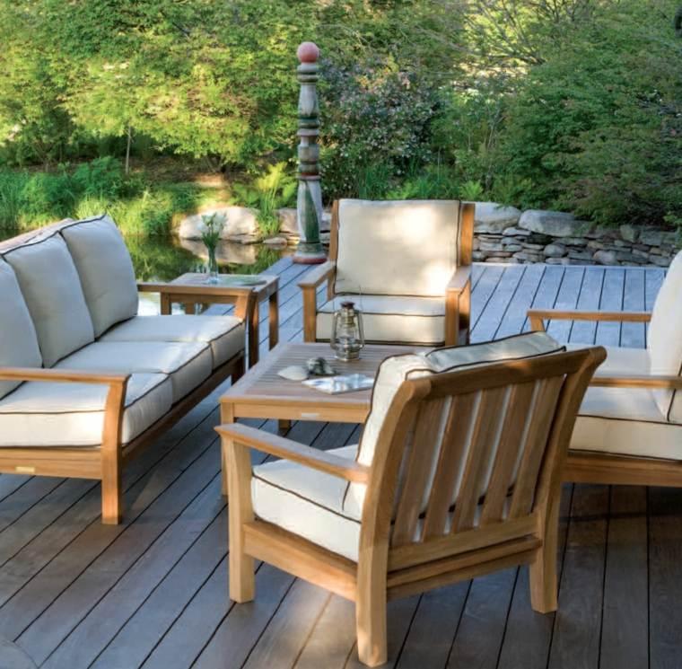 Sofas jardin los 50 mejores modelos de esta temporada for Sillones de patio de madera