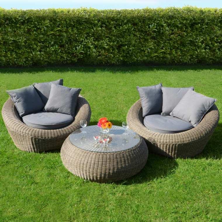 Sofas jardin los 50 mejores modelos de esta temporada for Almohadones para sillones jardin