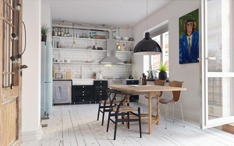 bonito diseño comedor escandinavo