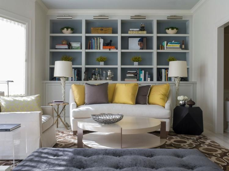 Librerias para salon - diseños modernos y funcionales -