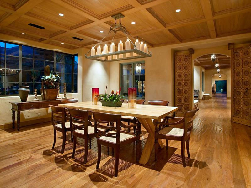 bonito diseño cocina comedor madera