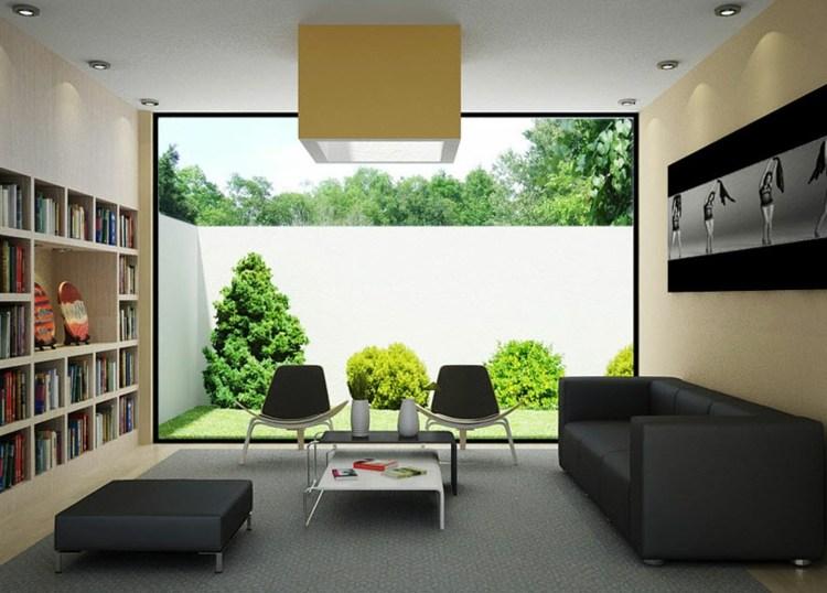 bonito diseño librerias para salon moderno