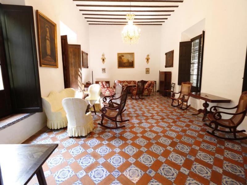 bonito salón rústico andalúz suelo
