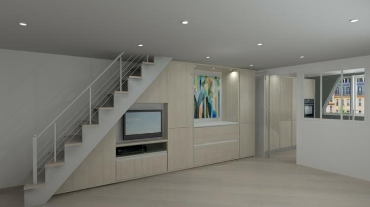 bonito diseño interior blanco moderno
