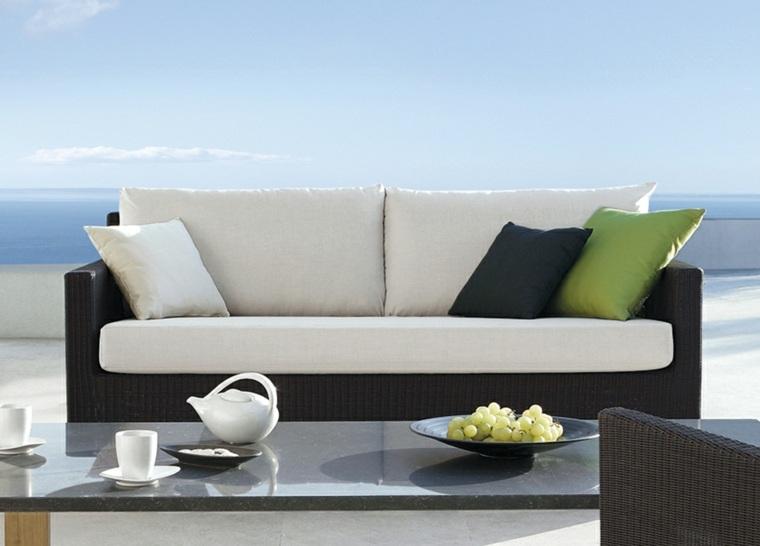 bonito diseño sofá terraza