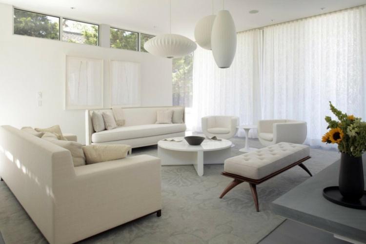 Salon gris y blanco la tendencia de esta temporada - Salones decorados en blanco ...