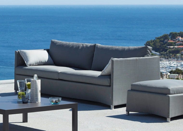 bonito sofa color gris
