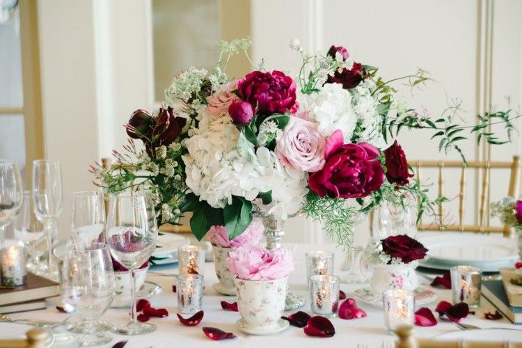 bonita decoracion romántica vintage boda