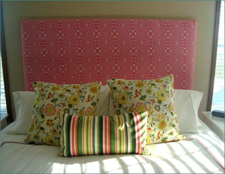 cabecero cama color rosa
