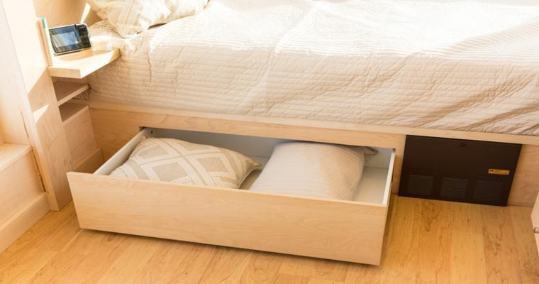 cama madera cajones integrados