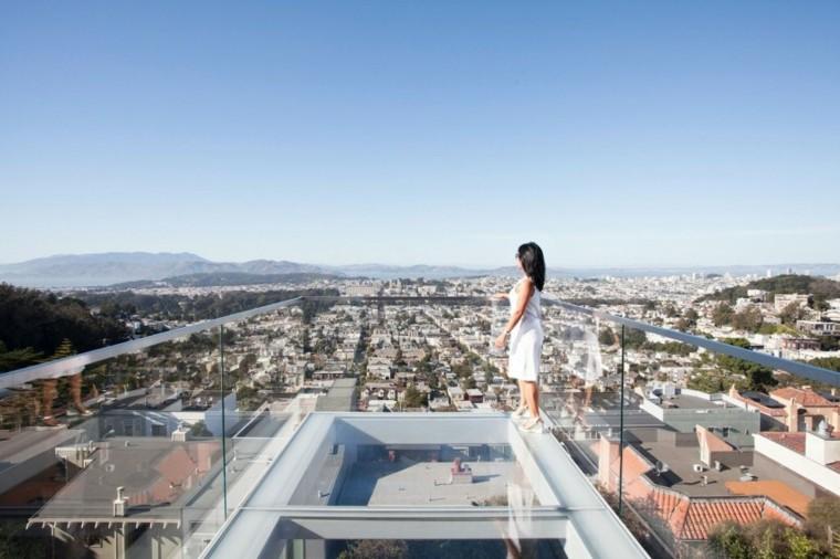 Vidrio: 35 opciones originales de suelos y techos