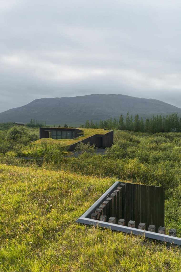 casa campo tejado plantas verde
