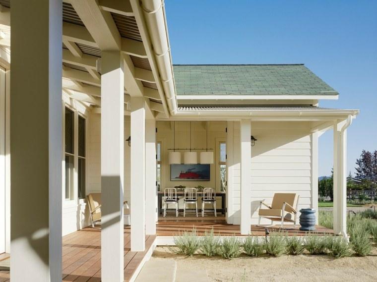 Porches jardin y terrazas cubiertas 50 dise os - Porches de casas ...