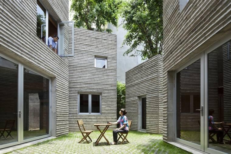 tree house courtyard Vietnam