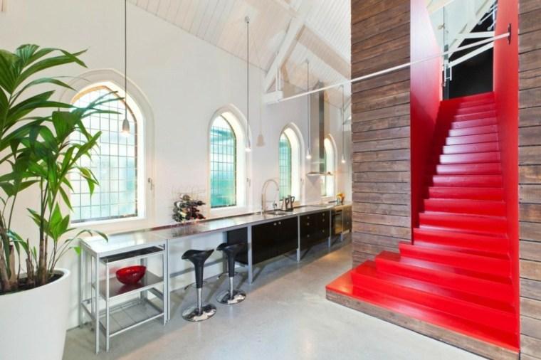 casa decor escalera roja cocina opciones ideas