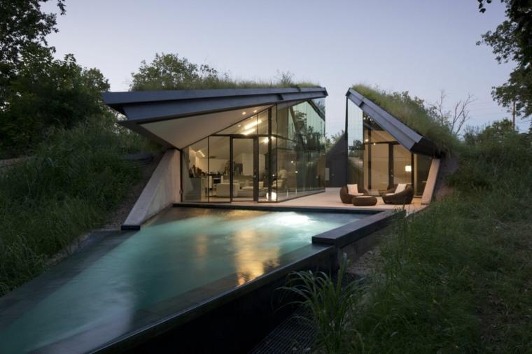 house modern green design