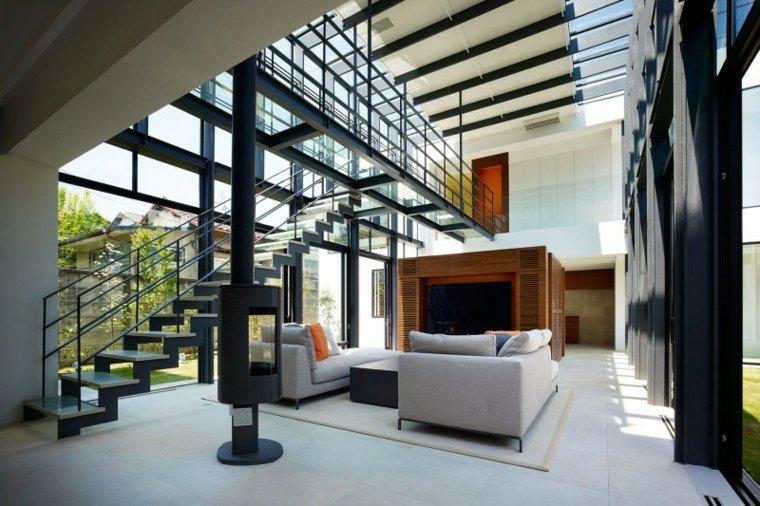 Vidrio 35 opciones originales de suelos y techos - Estructuras de acero para casas ...