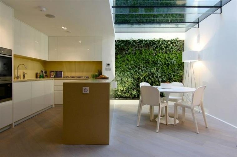 casa moderna crital jardin vertical comedor ideas