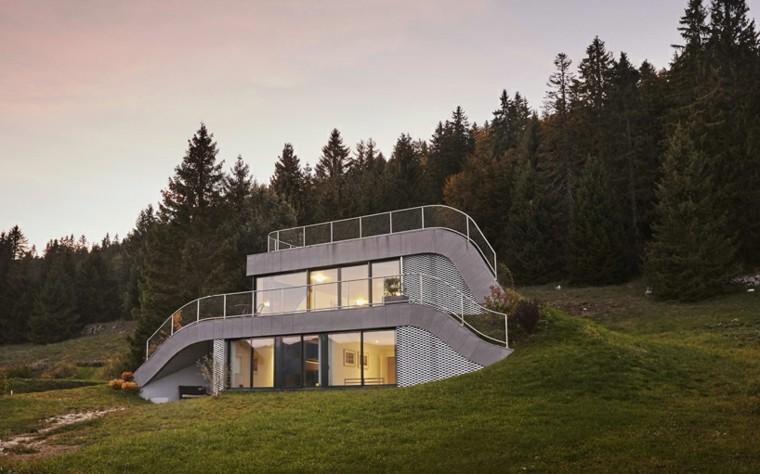 casa moderna diseño terraza verde