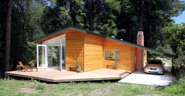 casa plataforma madera porche madera