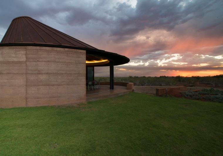 casa verde original diseño exterior