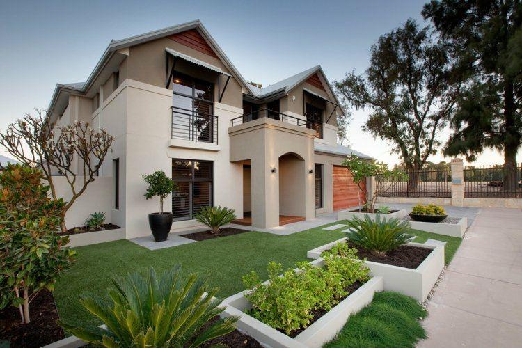 casa lujosa bonito jardin minimalista