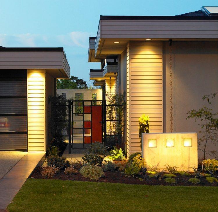 casa moderna jardin cuidado