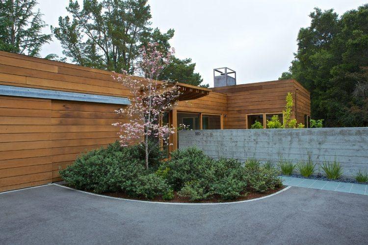 casas modernas fachadas madera