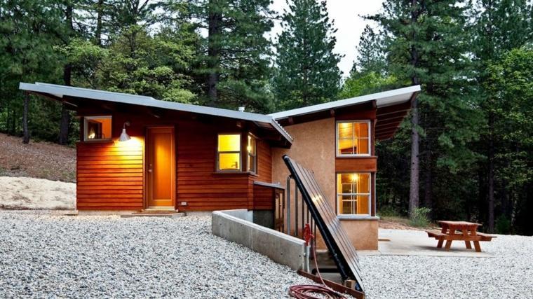 Porches jardin y terrazas cubiertas 50 dise os - Diseno de jardines para casas de campo ...