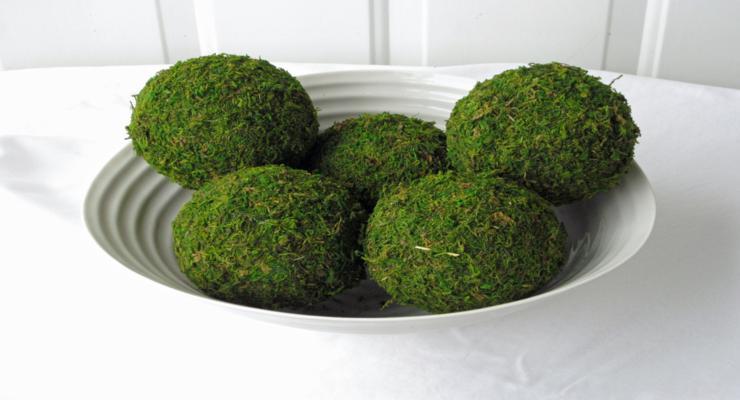 centros mesa bolas verdes