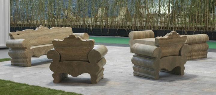 cesped tentaciones salas muebles verdes piscina